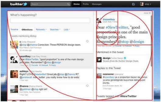 New Twitter Design Follows the Golden Ratio